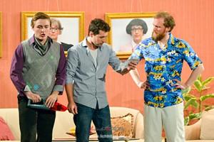 Die drei Hauptakteure Ben Qabach, Florian Kahl und Alexander Besgen (von links).