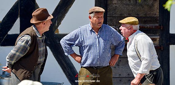 Pitter (Stefan Blumberg, links), Paul (Georg Höller, mitte) und Hännes (Helmut Müller) haben nichts als Unsinn im Kopf.